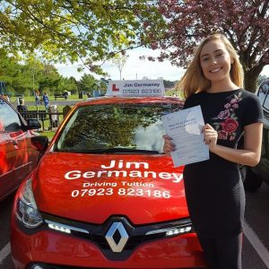 Molly - passed with http://jimgermaneydrivingtuition.co.uk