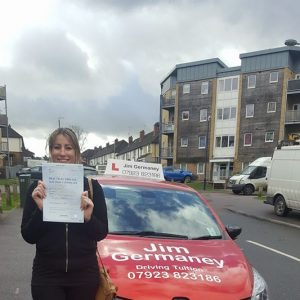Zoe - passsed with http://jimgermaneydrivingtuition.co.uk
